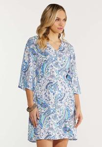 Blue Paisley Dress