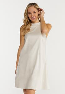 Faux Snake Textured Swing Dress