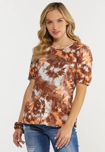 Plus Size Tie Dye Peplum Top
