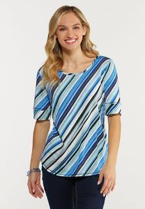 Diagonal Stripe Top