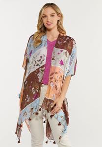 Botanical Tasseled Kimono