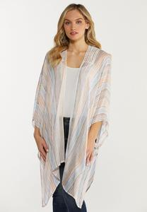 Pastel Stripe Kimono