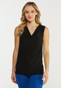 Plus Size Draped Neck Tank