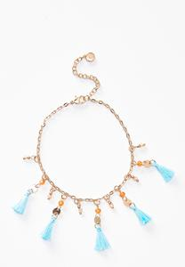 Beaded Tassel Anklet