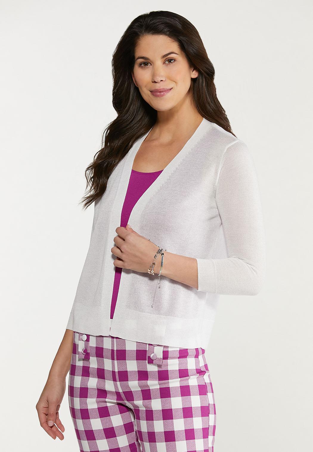 Plus Size Essential Sheer Cardigan