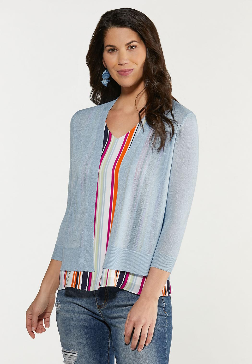 Plus Size Essential Sheer Cardigan