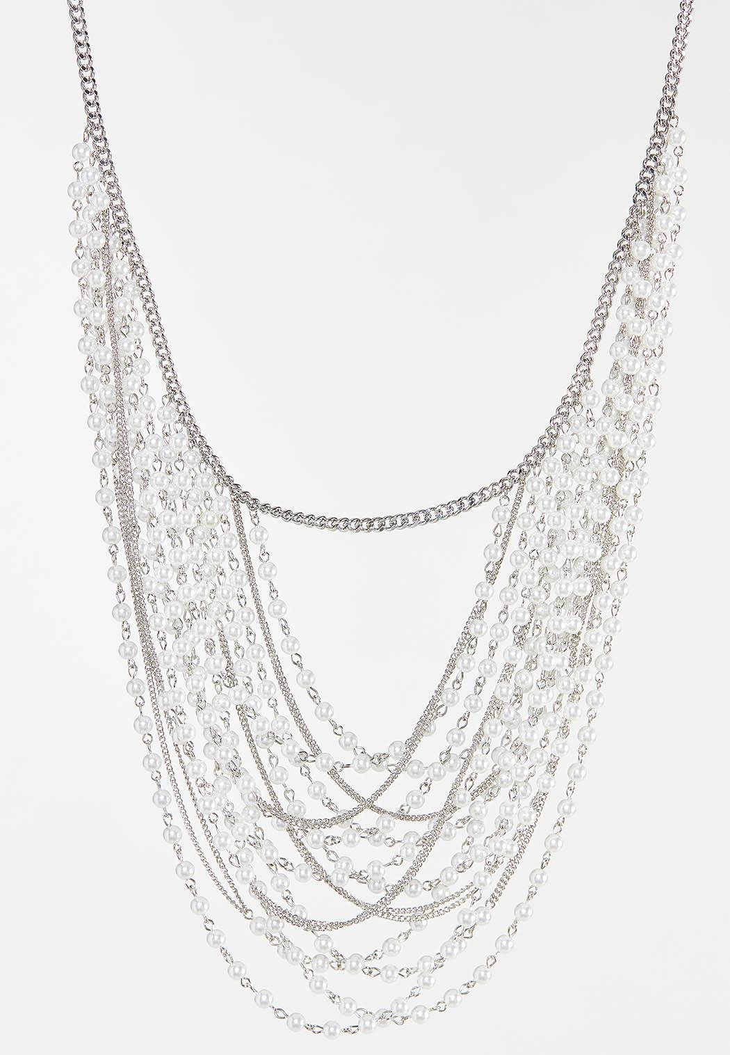 Pearl Chain Swag Necklace