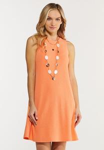 Plus Size Textured Swing Dress