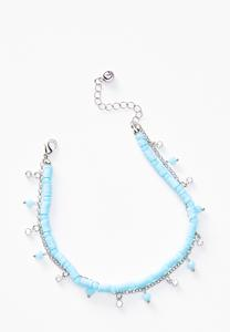 Shaky Bead Blue Anklet