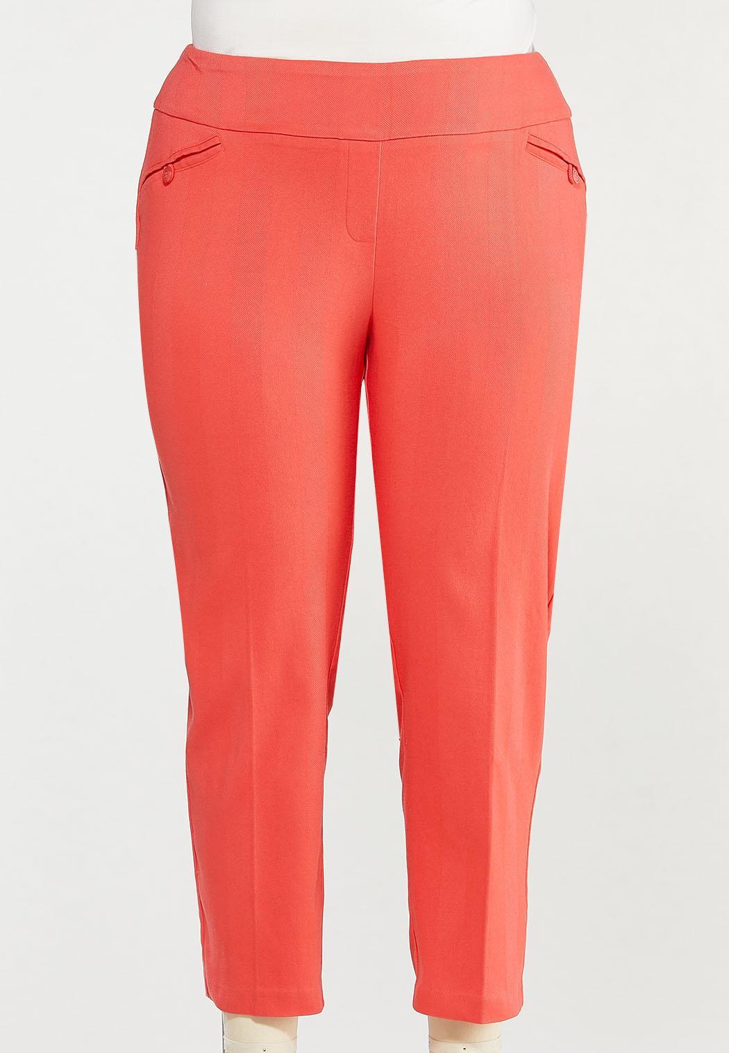 Plus Size Spice Coral Bengaline Pants