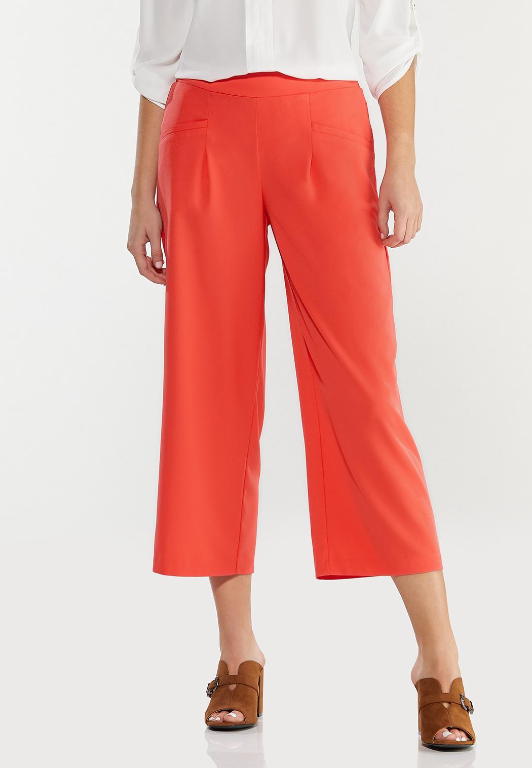 Cropped Spice Wide Leg Pants