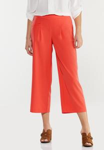 Cropped Spice Wide Leg Pants