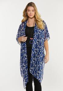 Blue Leopard Kimono