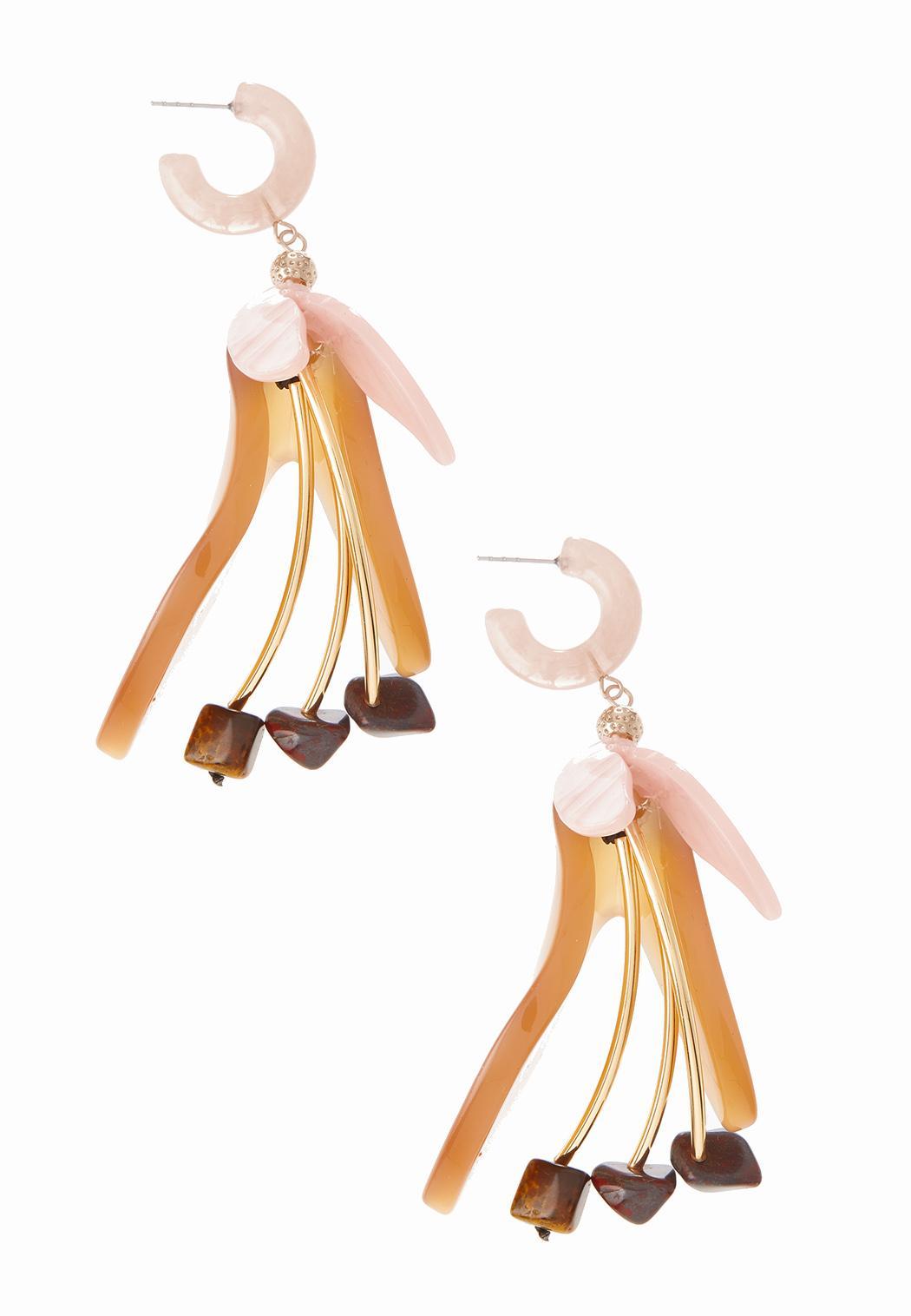 Dancing Petal Lucite Earrings