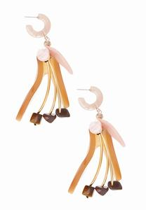 Dancing Petal Lucite Earrings