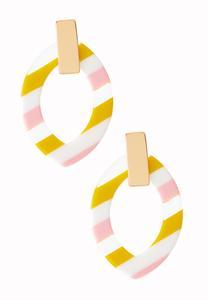Horizontal Stripe Lucite Earrings