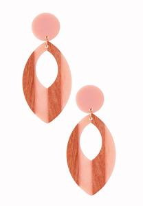 Cutout Tear Clip-On Earrings