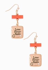 Love Never Fails Earrings