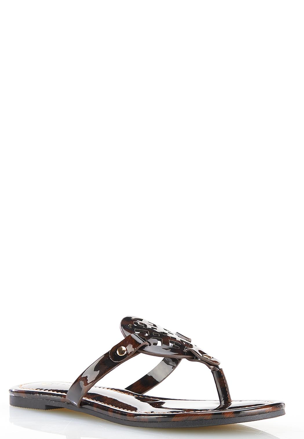 Leopard Medallion Sandals