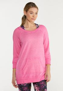 Plus Size Solid Brushed Color Sweatshirt