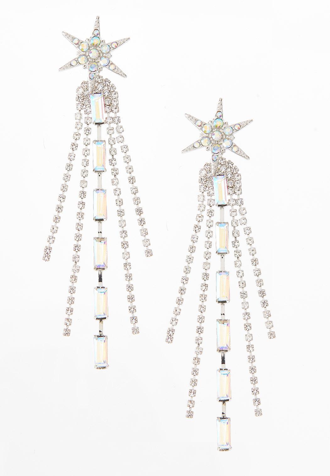 Starburst Rhinestone Earrings