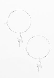 Lightening Bolt Hoop Earrings