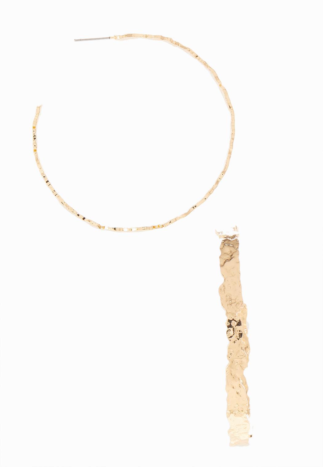 Abstract Textured Hoop Earrings