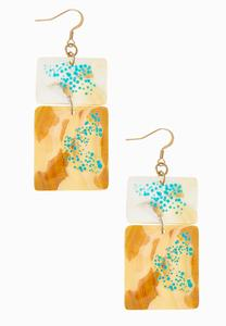 Speckled Shell Earrings