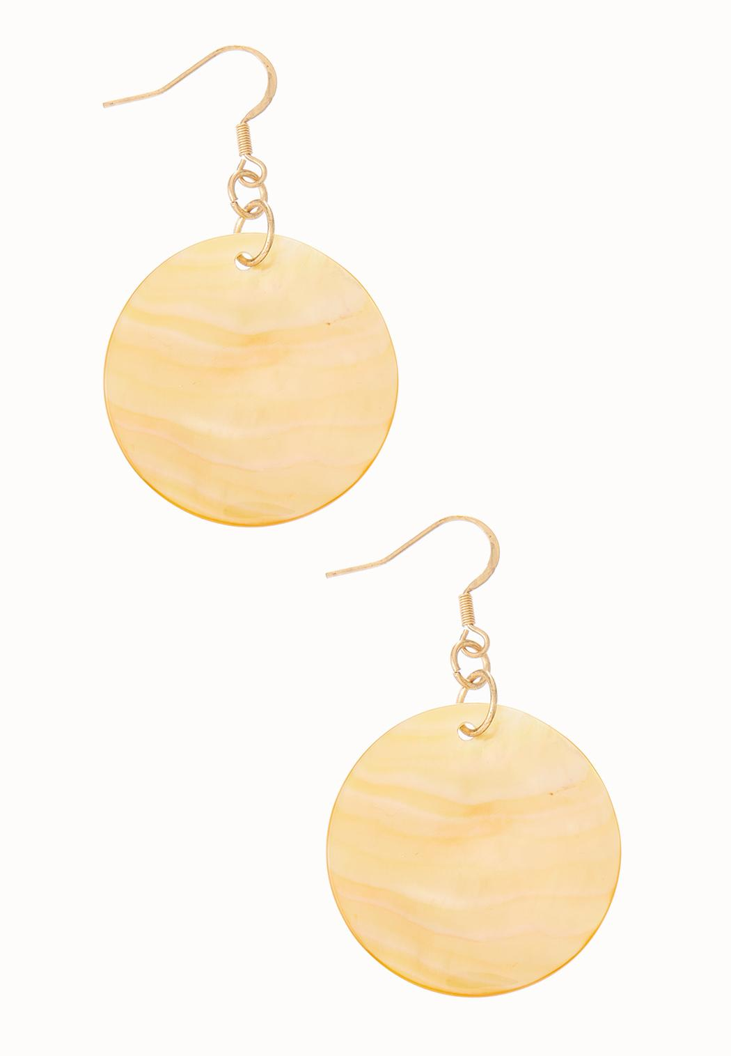 Round Shell Earrings