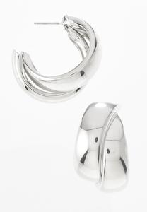 Swoop Double Hoop Earrings