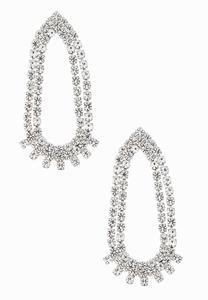 High Shine Rhinestone Earrings