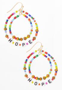 Rainbow Bead Hope Earrings