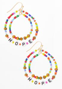 Rainbow Bead Hope Earrings