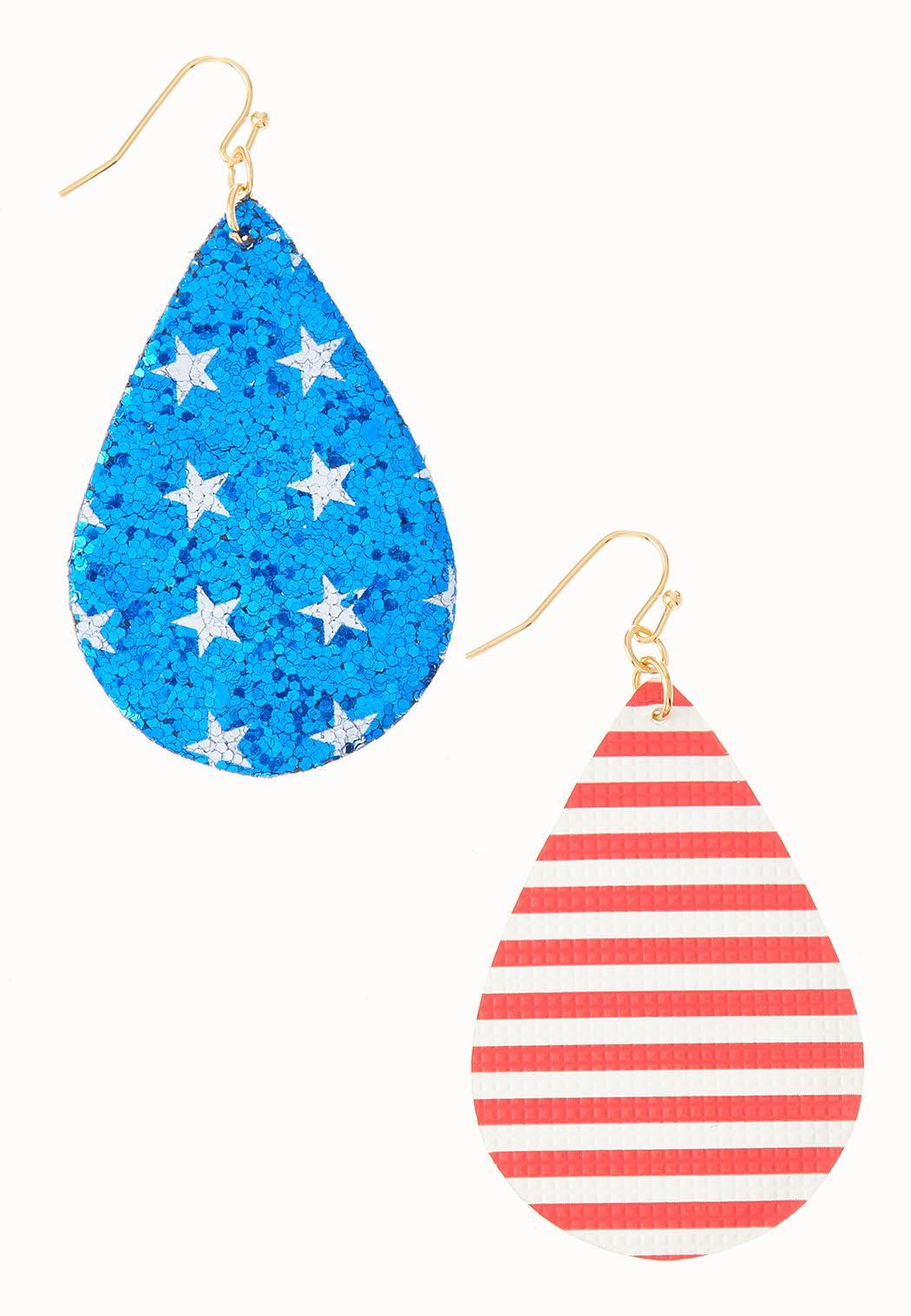 Glitter Patriotic Earrings