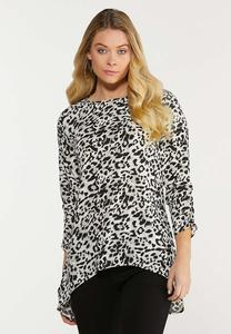 Plus Size Animal High-Low Tunic