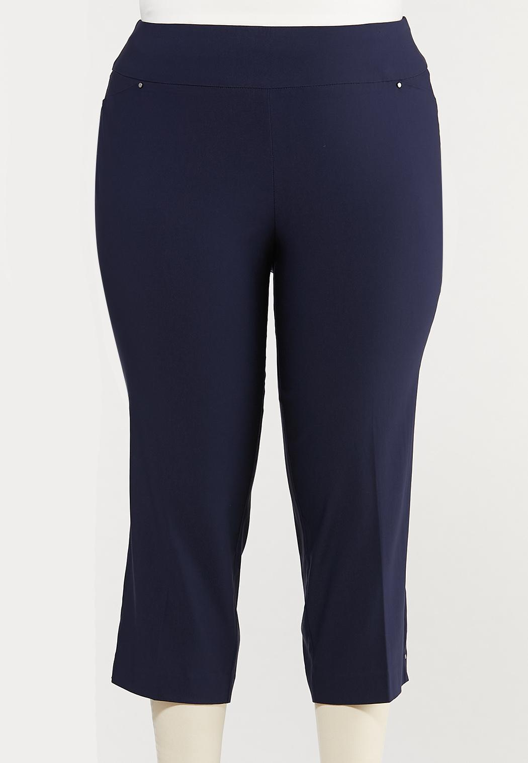 Plus Size Cropped Bengaline Pants