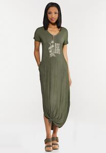 Plus Size Rise Above Knotted Maxi Dress