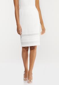 Ivory Knit Skirt