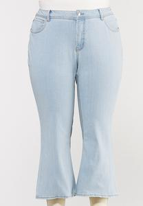 Plus Size Cropped Lightwash Flare Jeans