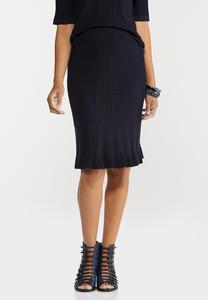 Ruffle Trim Sweater Skirt