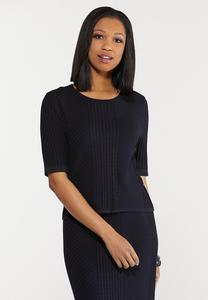 Plus Size Navy Sweater