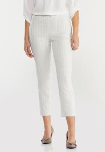 Neutral Plaid Ankle Pants
