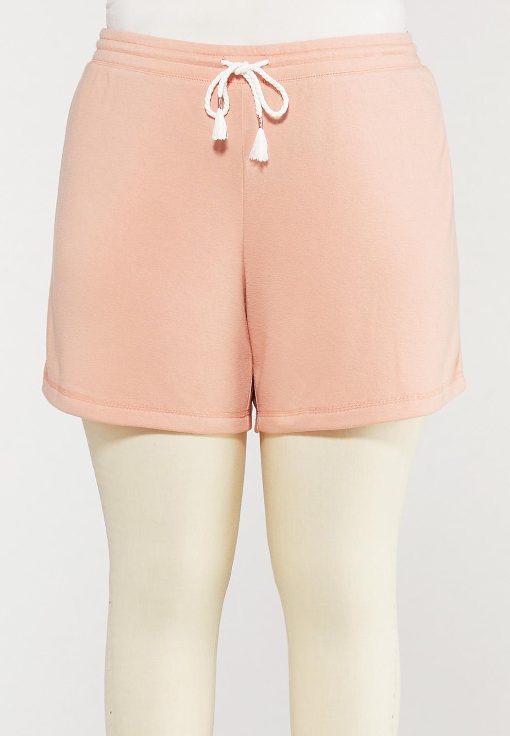 Plus Size Soft Fleece Shorts