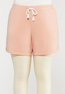 Plus Size Soft Fleece Shorts