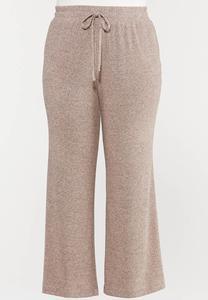 Plus Size Pink Hacci Lounge Pants