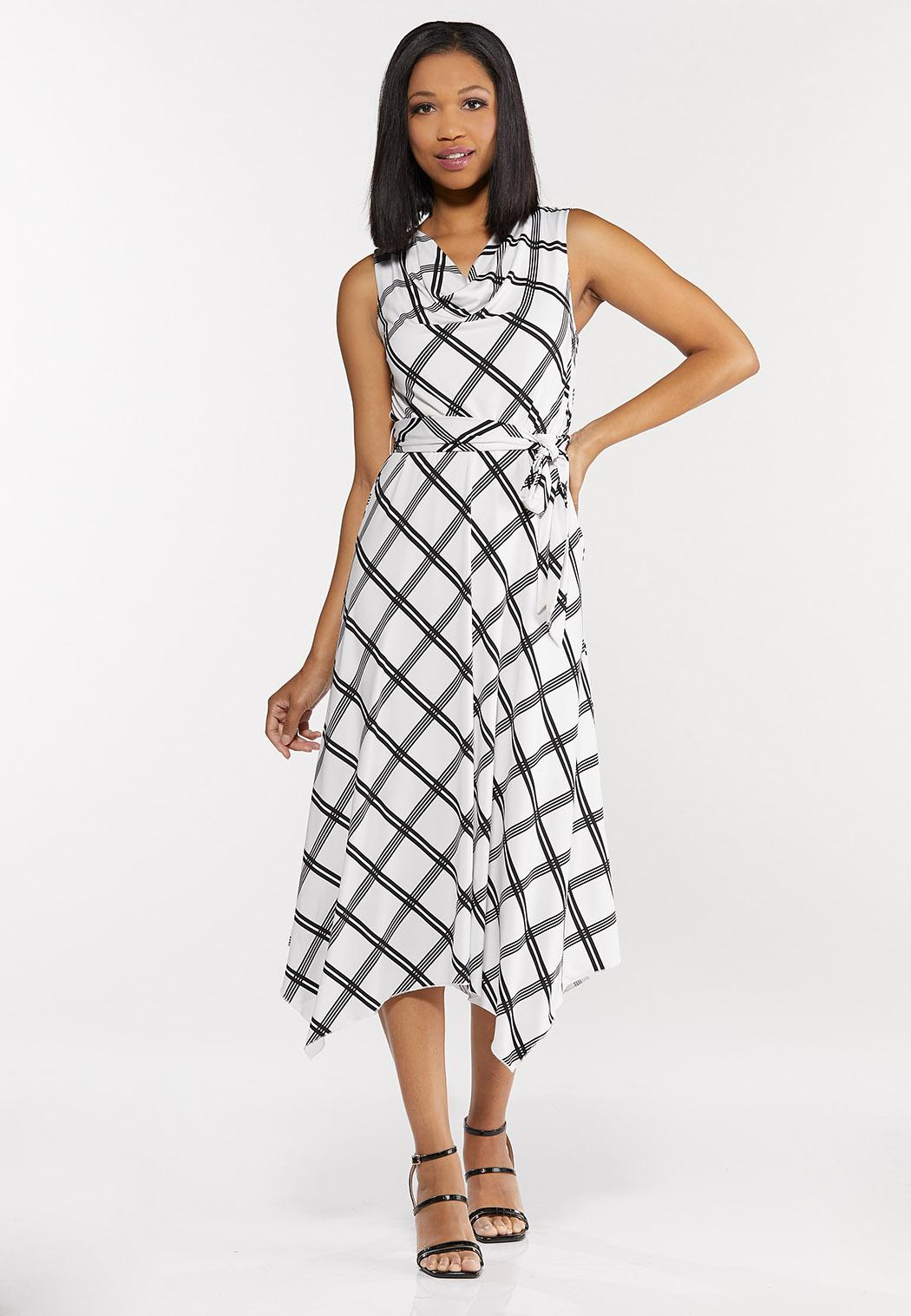 Plus Size Modern Geo Hanky Dress
