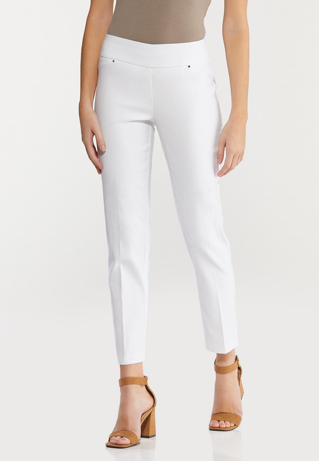 Petite Solid Bengaline Pants