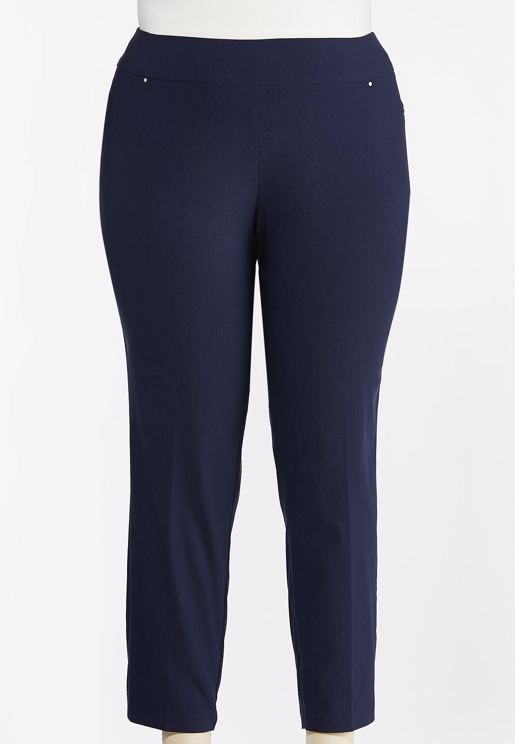Plus Petite Slim Leg Bengaline Pants