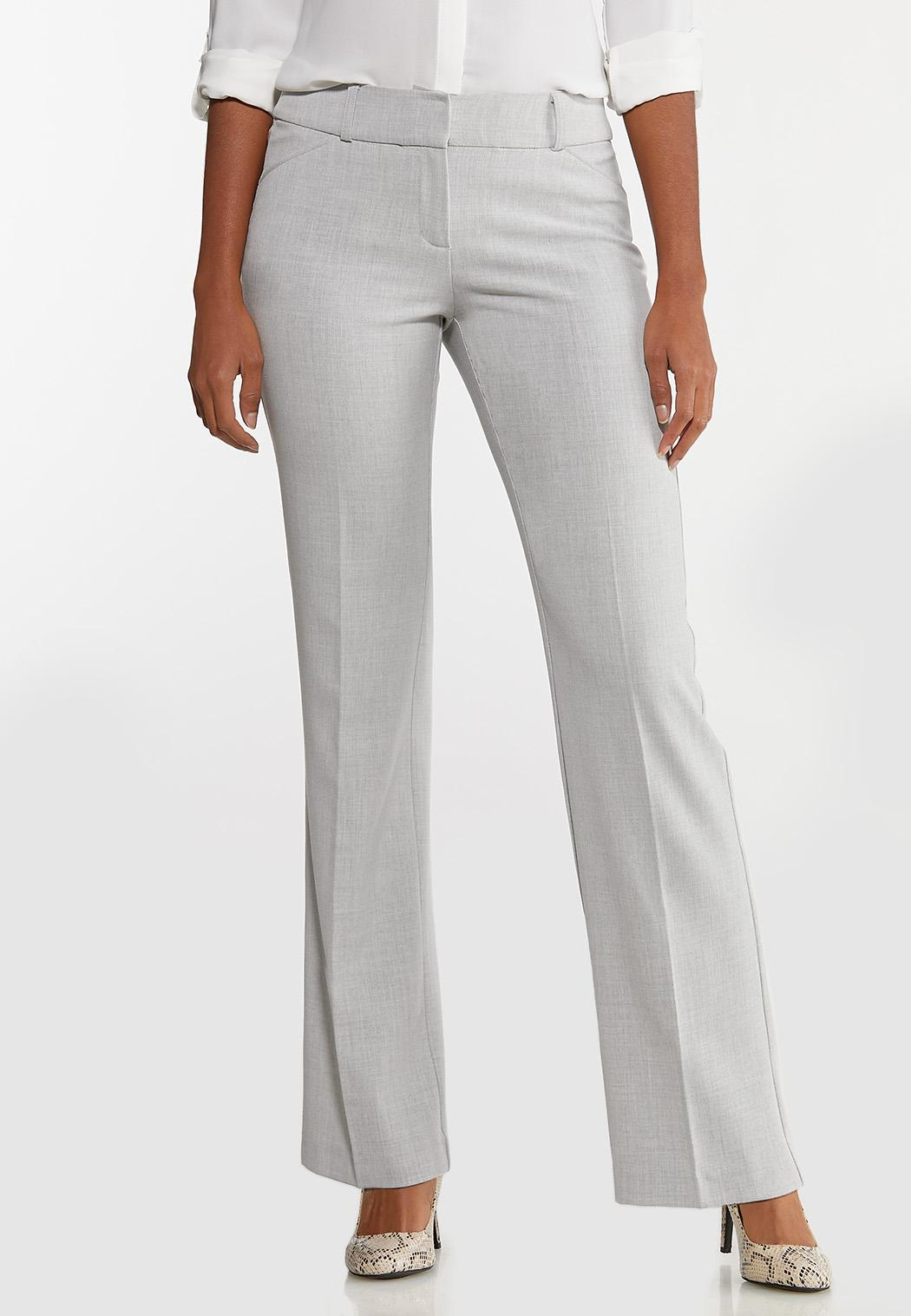 Petite Gray Trouser Pants