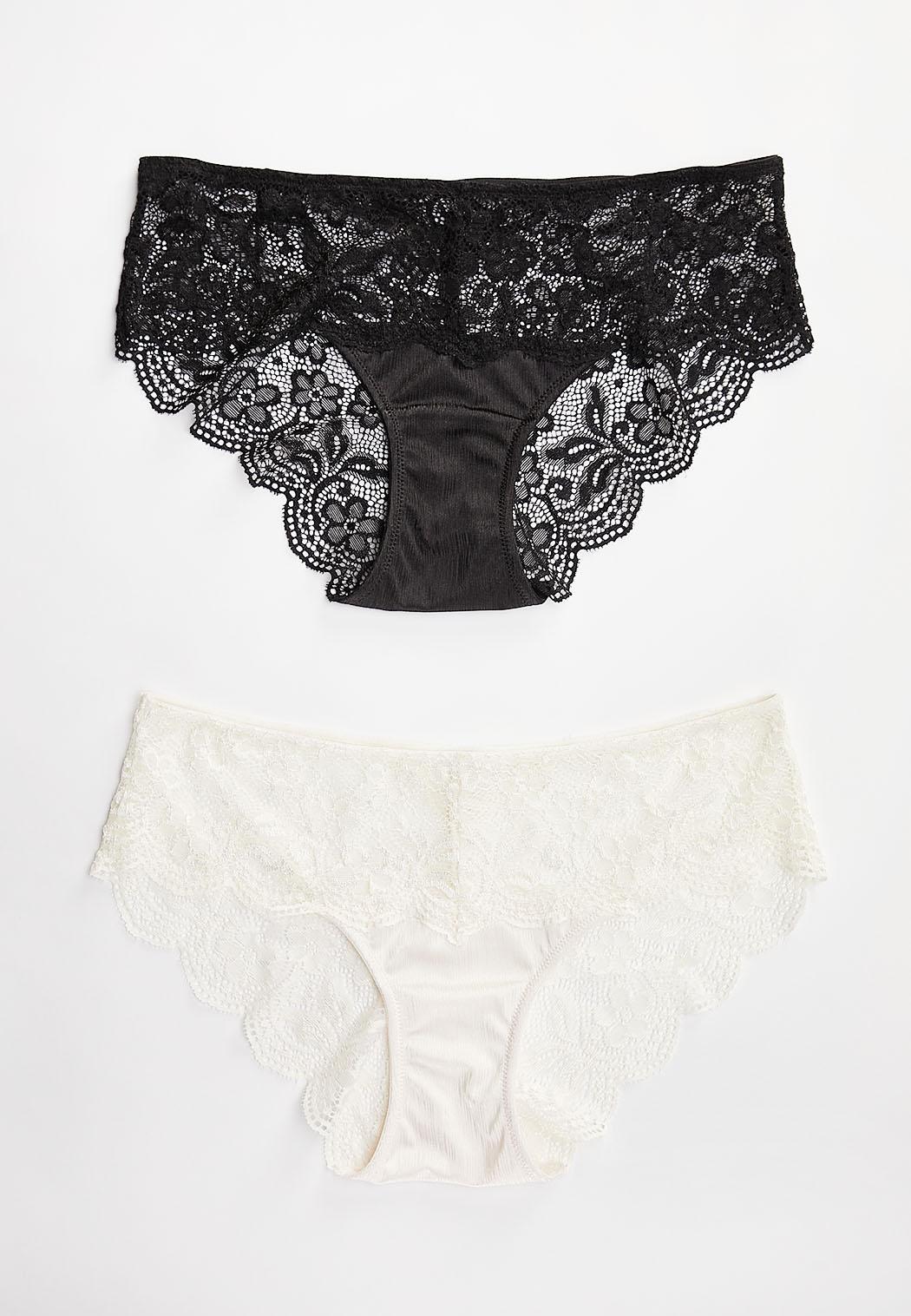 Ivory Black Panty Set